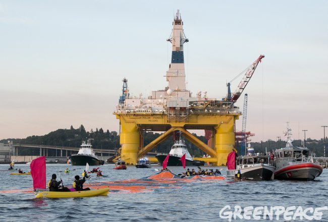 Protesting The Polar Pioneer's Trip To The Arctic