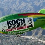 Airship Protests Koch Brothers Meeting