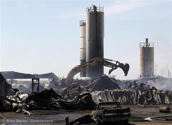 Texas Chemical Plant Explosion Aftermath