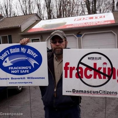 Hydraulic Fracturing Protest in Dimock
