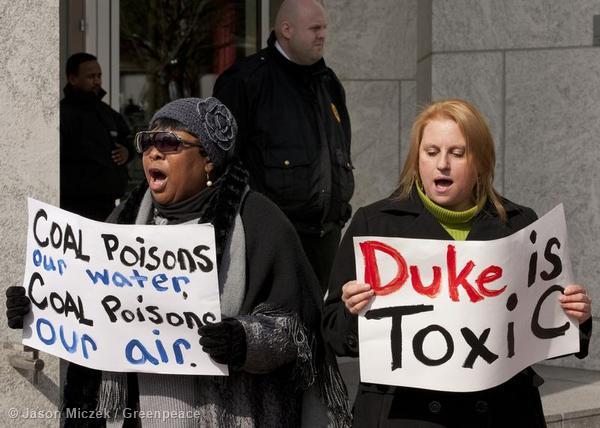 Duke Energy Ash Spill Protest in North Carolina