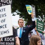Koch Museum Board Protest in Washington DC