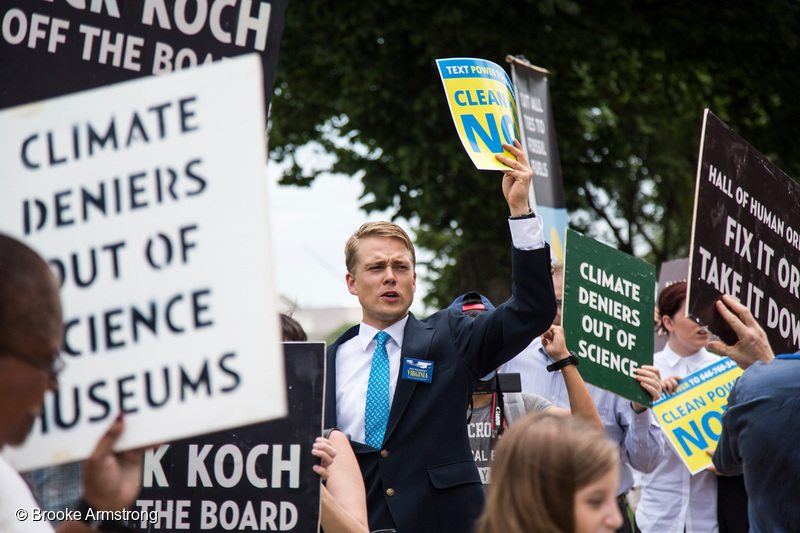Koch Museum Board Protest in Washington DC