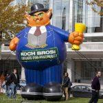 Koch Bros Fat Cat Protest