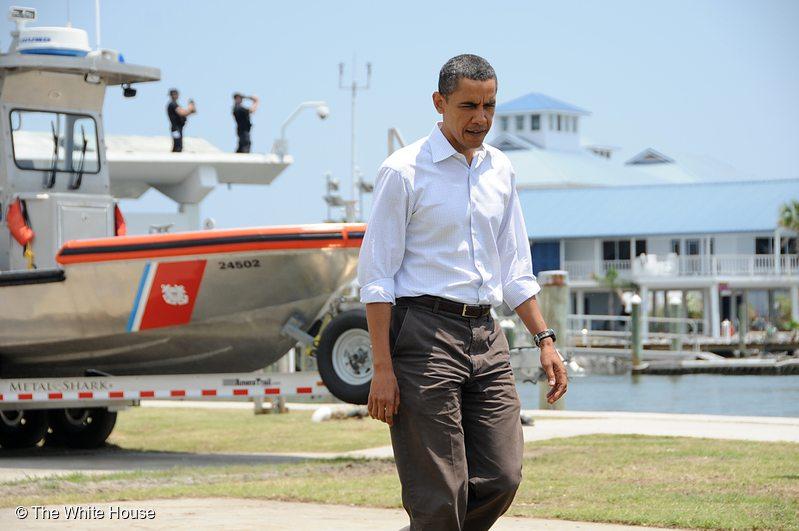 President Obama Before Speech on the BP Deepwater Horizon Oil Spill