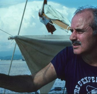 David McTaggart on board Vega