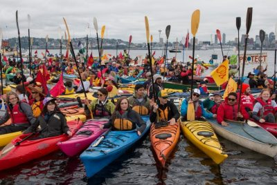 Paddle in Seattle Flotilla Protest