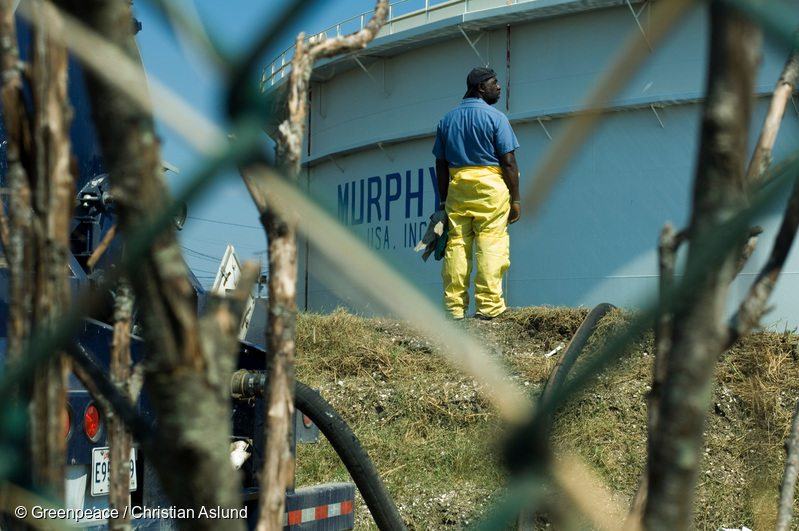 At Murphy Oil Refinery After Hurricane Katrina