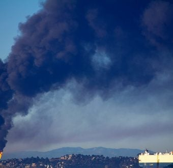 Chevron Refinery Fire, Richmond, CA