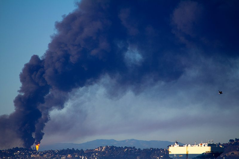 Chevron Refinery Fire, Richmond, CA