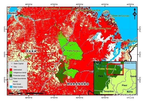 Map of Amazon Deforestation