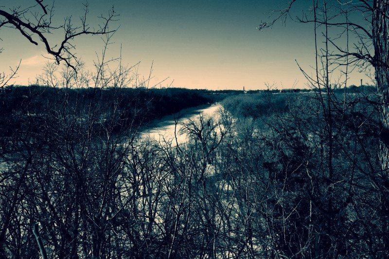 Frozen River Minnesota
