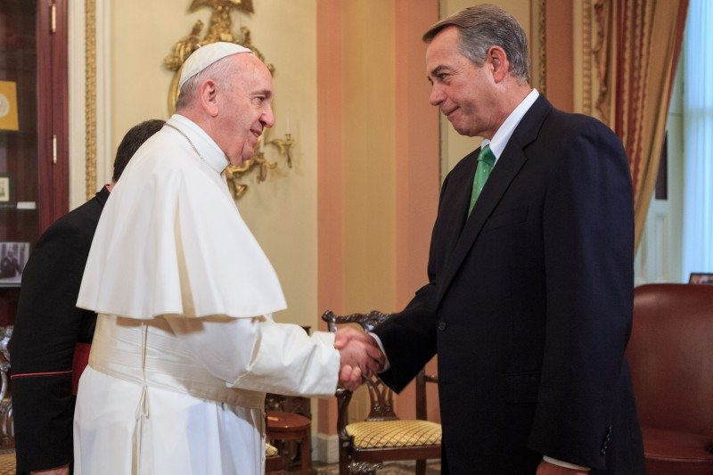 Pope and Speaker of the House John Boehner