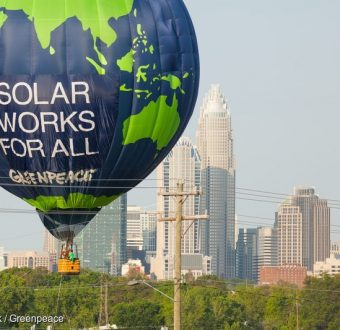 Duke Energy Balloon Banner in the US