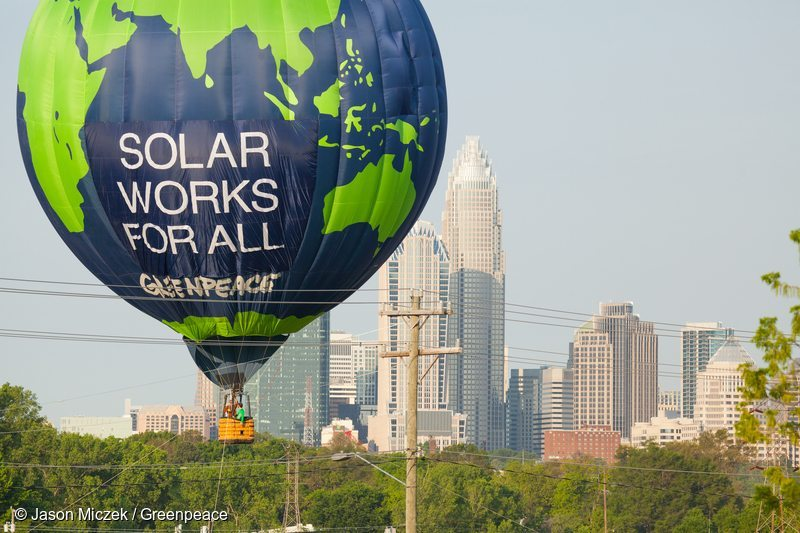 Duke Energy Balloon Banner in the US