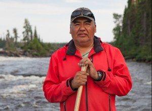 Don Saganash at the Broadback River