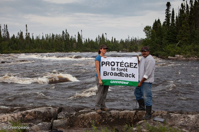 Greenpeace Joins with the Cree First Nation of Waswanipi to Save the Broadback Valley