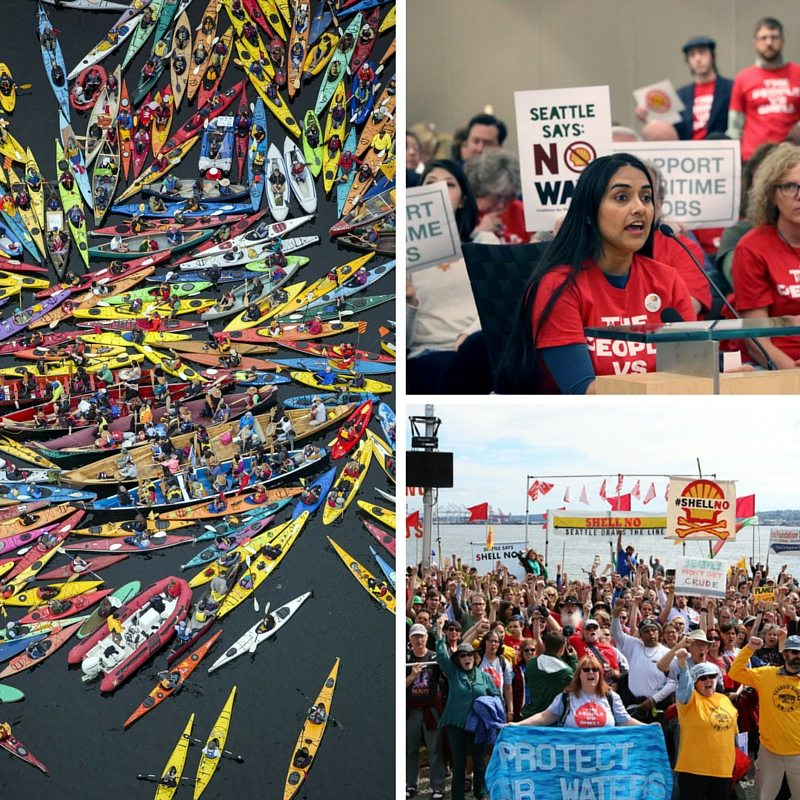 All year, from the Paddle in Seattle to the Seattle Draws the Line March to protests at public hearings about the city's port, Seattle proved itself to be the epicenter of some of the most courageous and effective environmental activism in the country.