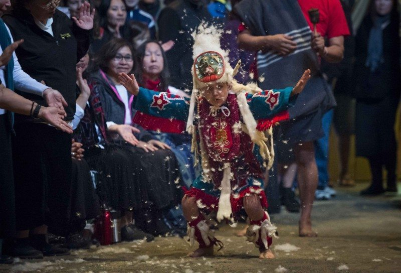 Mike Willie Potlatch. Photo by John Lehmann / The Globe and Mail.