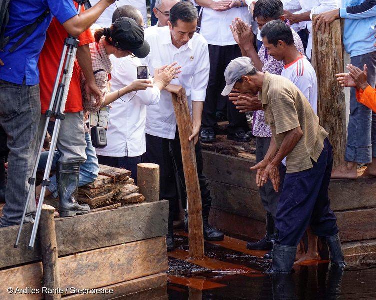 President Joko Widodo Visits Sungai Tohor Community in Riau