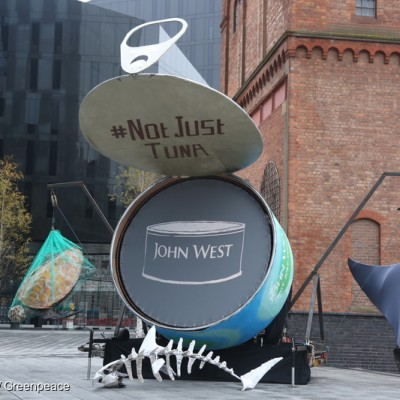 Giant Tuna Tin Sculpture outside John West HQ in UK