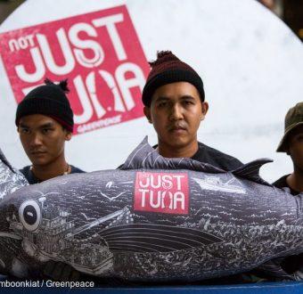 Protest at Thai Union Headquarters in Thailand