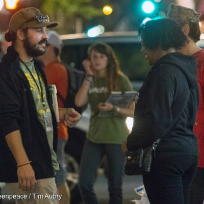Greenpeace Canvassers on San Diego Frontline