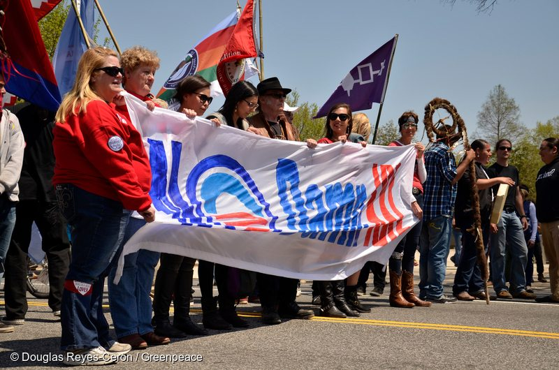 Reject and Protect Tipi and March in Washington D.C.