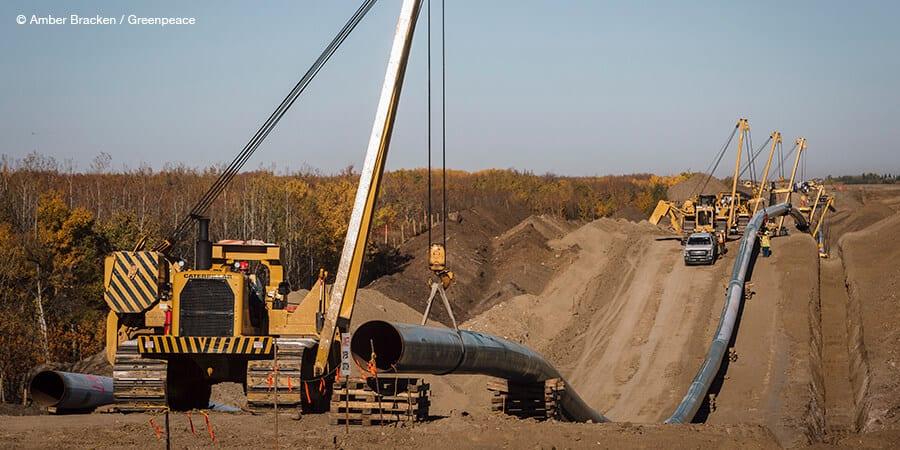 Construction on Line 3 near Hardisty, Alberta.