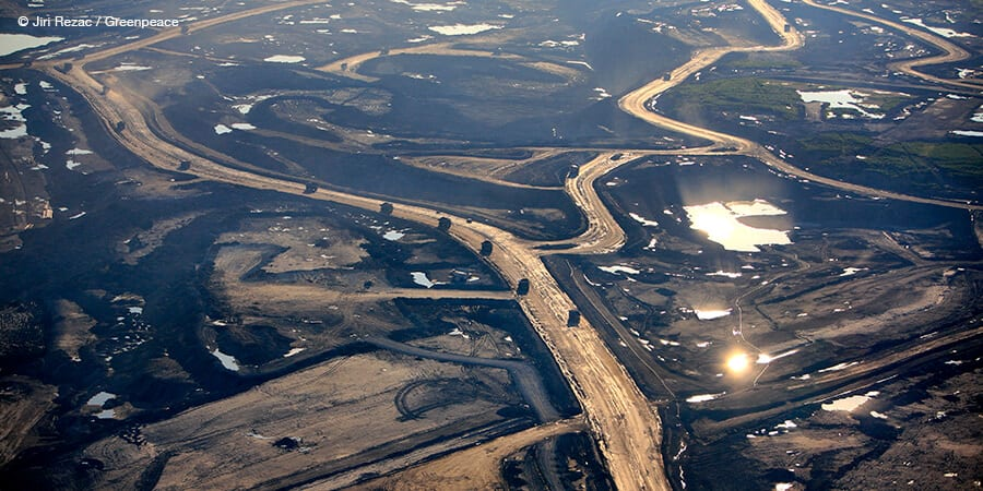 View of tar sands tailings pond