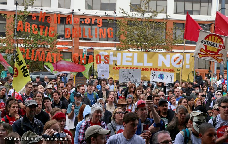 Seattle Anti-Shell Rally