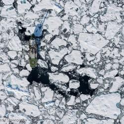 Arctic Sunrise in Greenland Pack Ice