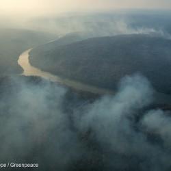 Forest Fires in the Indigenous Land Arariboia in BrazilIncêndio florestal na Terra Indígena Arariboia