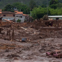 Destruction Caused by Toxic Mud Disaster in BrazilDesastre ambiental em Mariana-MG