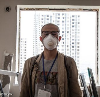 Tianjin Resident after Chemical Explosion in China