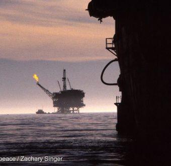 Exxon's Hondo Oil Drilling Platform in California