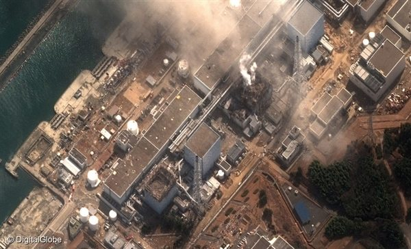 A satellite image shows damage at Fukushima I Nuclear Power Plant that was caused by the offshore earthquake on 11 March 2011.