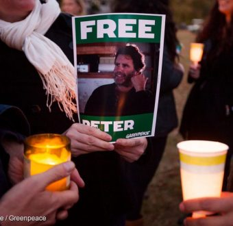 'Free the Arctic 30' Candlelight Vigil in Norwalk USA