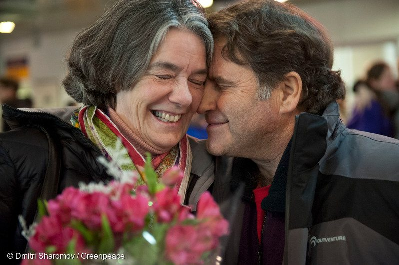 Peter Willcox Meets His Wife at St. Petersburg Airport