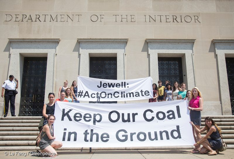 Coal Lease Protest at Department of Interior in Washington DC