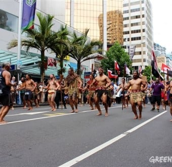 On Wednesday, a Māori hīkoi led thousands of protesters as member nations signed the Trans-Pacific Partnership in Auckland, New Zealand. They were joined by protesters in almost every TPP member nation.