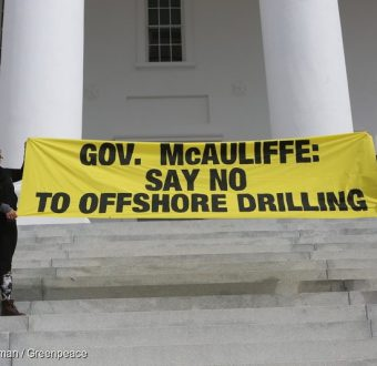 Offshore Drilling Banner in Richmond