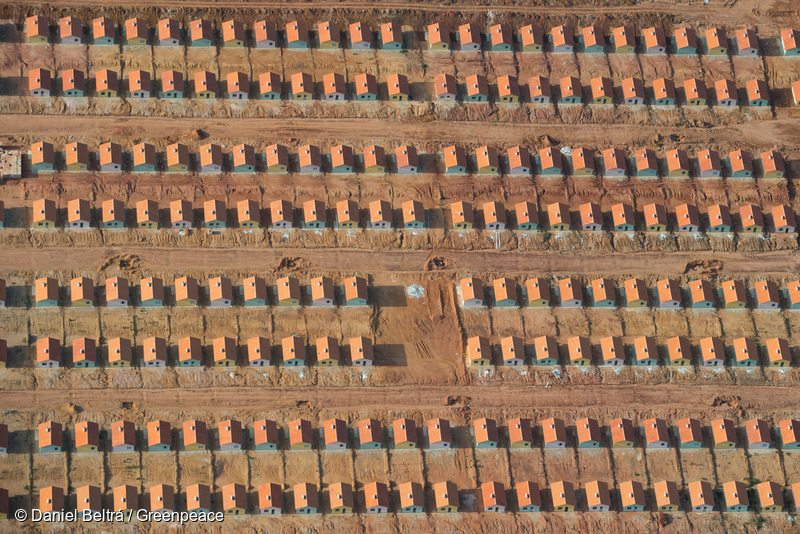 Housing development for workers under construction outside of Santarém, Brazil.