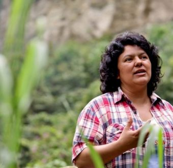 Berta Cáceres in 2015. Photo by Goldman Environmental Prize.
