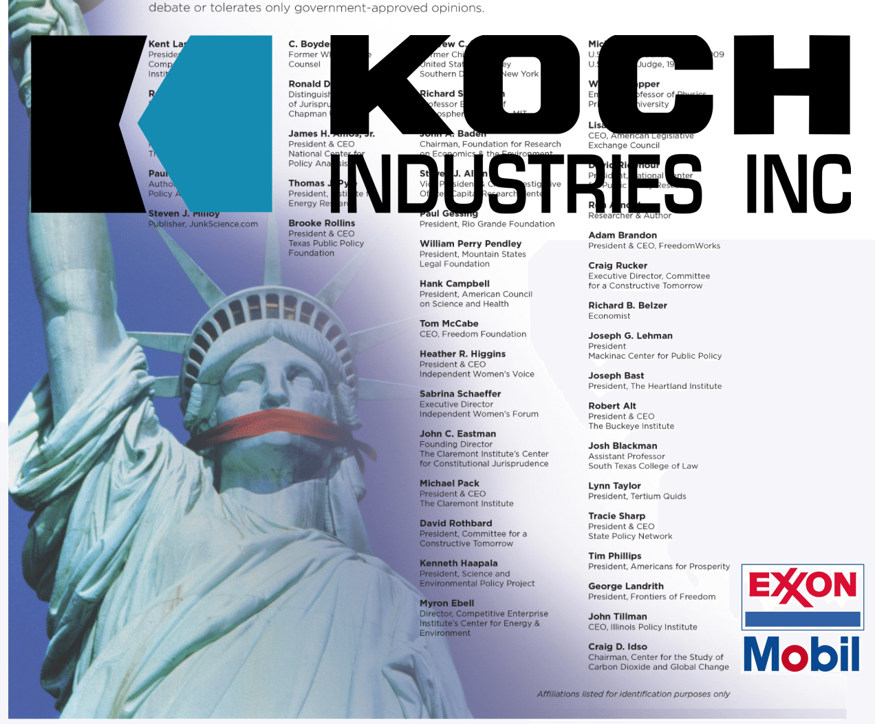 Koch Front Groups Are Defending ExxonMobil's Anti-Science