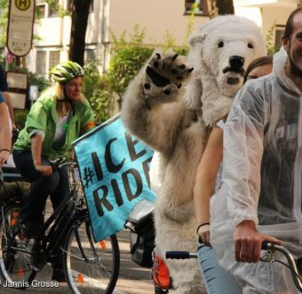 'Act for Arctic' Ice Ride in Freiburg