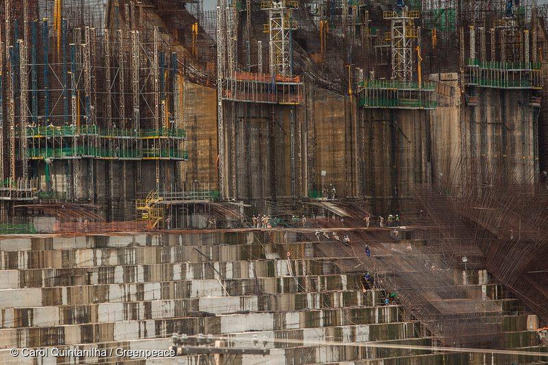 Construction of Belo Monte Dam in BrazilConstrução da Usina Hidrelétrica de Belo Monte