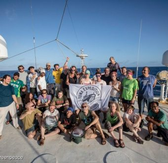 Goodbye and thank you from the crew of the Esperanza and #NotJustTuna Expedition Team.