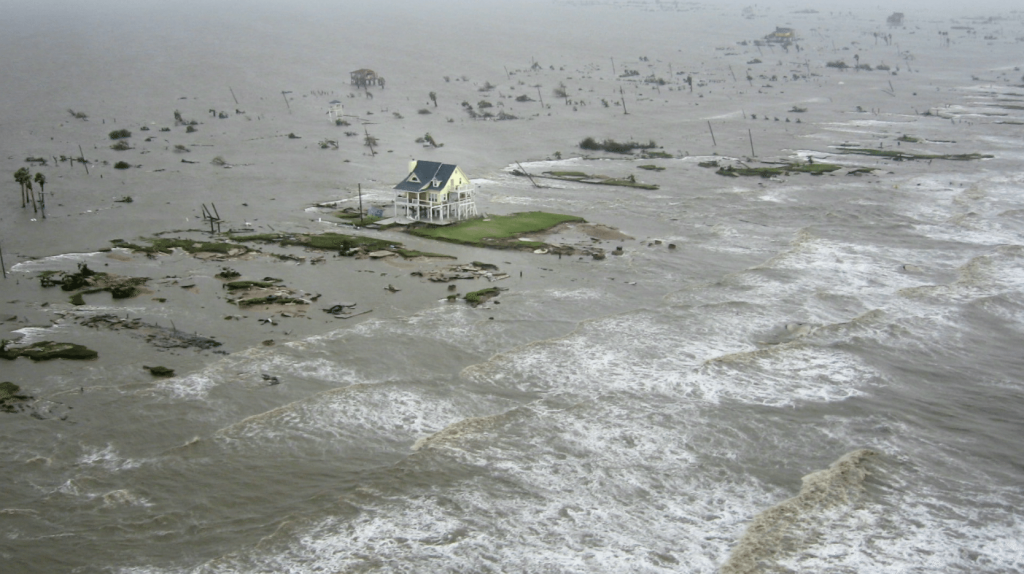 Galveston, Texas During Hurricane Ike