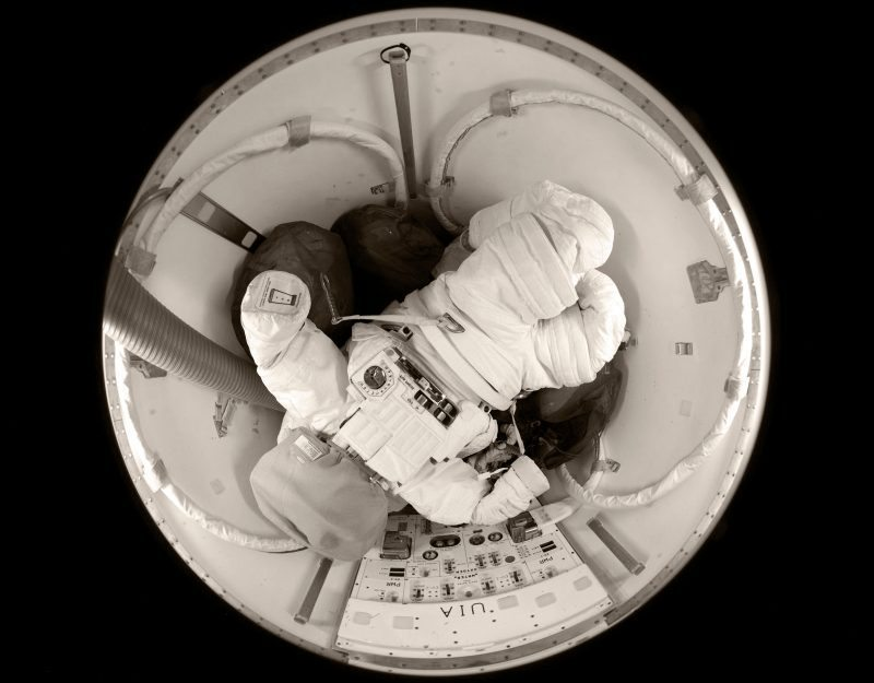 Space Suit in Air Lock on the International Space Station